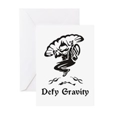 Defy Gravity Skydiving Greeting Card