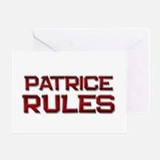 patrice rules Greeting Card