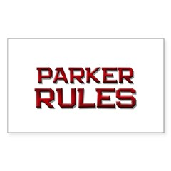 parker rules Rectangle Decal