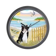 Rowboat / (B&W) Cat Wall Clock