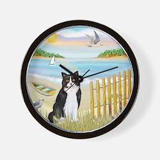 Rowboat / (B&W) Cat Wall Clock