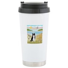 Rowboat / (B&W) Cat Travel Mug