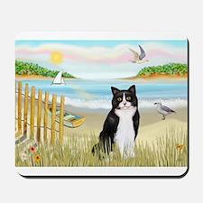 Rowboat / (B&W) Cat Mousepad
