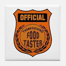 Thanksgiving Food Taster Tile Coaster