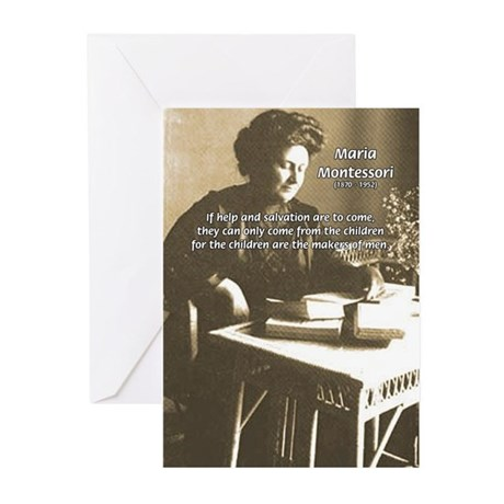 Maria Montessori Education Greeting Cards (Package