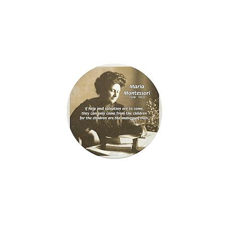 Maria Montessori Education Mini Button (10 pack)
