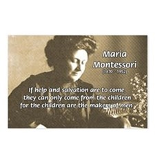 Maria Montessori Education Postcards (Package of 8