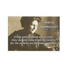 Maria Montessori Education Rectangle Magnet