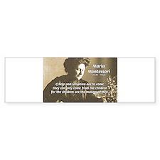 Maria Montessori Education Bumper Car Sticker