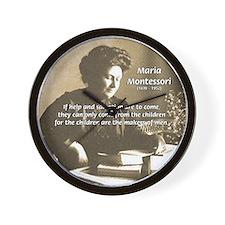Maria Montessori Education Wall Clock