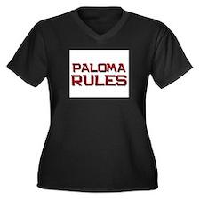 paloma rules Women's Plus Size V-Neck Dark T-Shirt