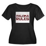 paloma rules Women's Plus Size Scoop Neck Dark T-S