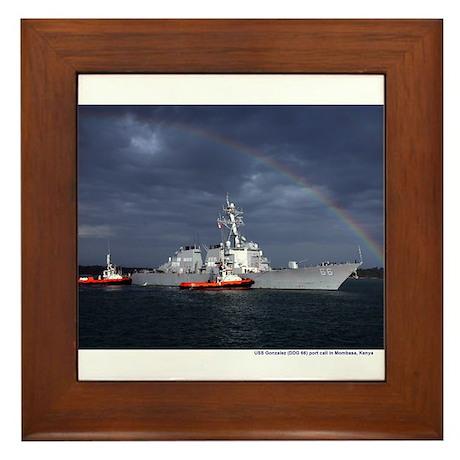 USS Gonzalez Framed Tile