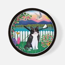 Shore / (B&W) Cat Wall Clock