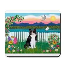 Shore / (B&W) Cat Mousepad