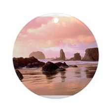Bandon Oregon Ornament (Round)