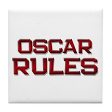 oscar rules Tile Coaster