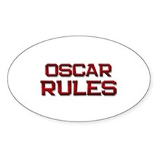 oscar rules Oval Decal