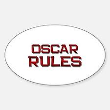 oscar rules Oval Decal