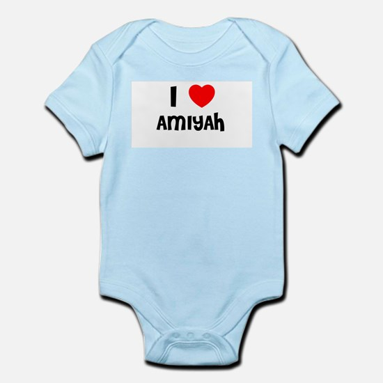 I LOVE AMIYAH Infant Creeper
