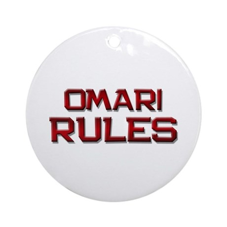 omari rules Ornament (Round)