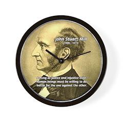 Utilitarianism John Mill Wall Clock
