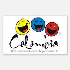 Colombia Rectangle Sticker 10 pk)
