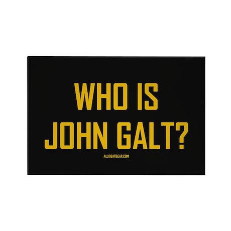 Who Is John Galt? Rectangle Magnet (10 pack)