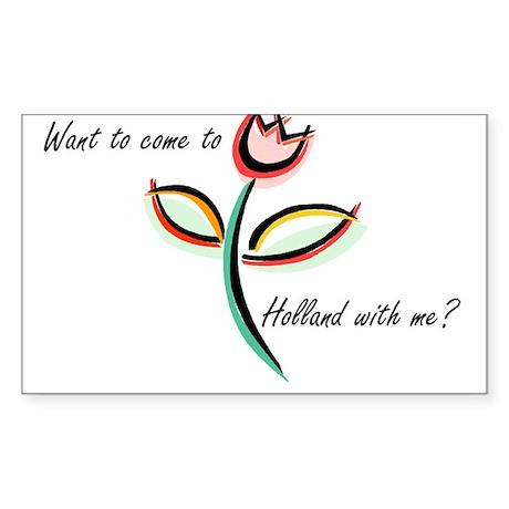 Tulips Rectangle Sticker 50 pk)