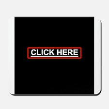 Click Here Black Mousepad