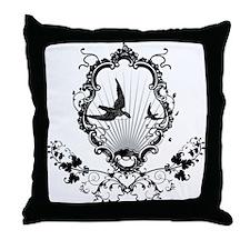 Framed Birds Throw Pillow