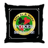 Poker pillow Throw Pillows