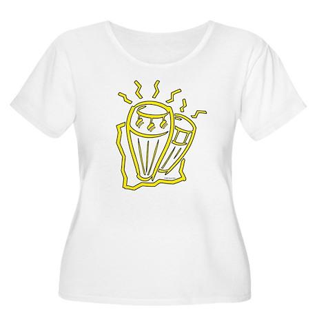 Congas Women's Plus Size Scoop Neck T-Shirt