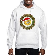 Smiley Santa Wreath Hoodie