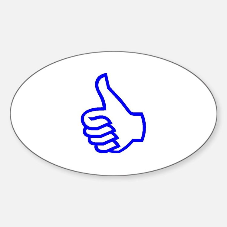 Thumb's Up Oval Decal