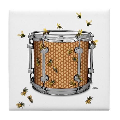 Drum Bees Tile Coaster