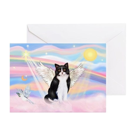 Clouds / (B&W) Cat Greeting Cards (Pk of 10)
