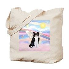 Clouds / (B&W) Cat Tote Bag