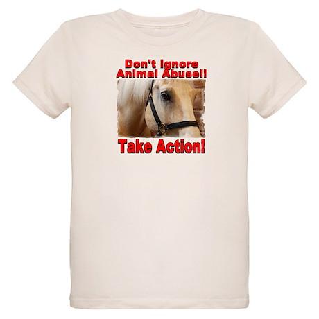 Don't ignore animal abuse! Organic Kids T-Shirt
