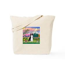 Angel (B&W) Cat Tote Bag