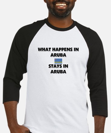 What Happens In ARUBA Stays There Baseball Jersey
