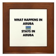 What Happens In ARUBA Stays There Framed Tile