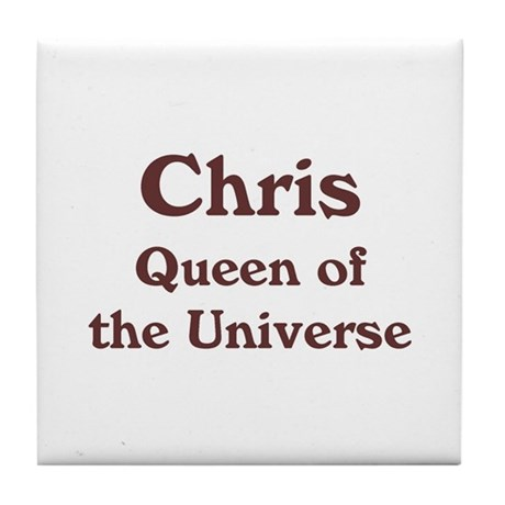 Personalized Chris Tile Coaster
