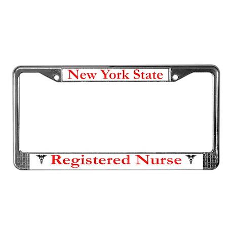 New York State RN License Plate Frame