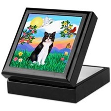 Bright Life / (B&W) Cat Keepsake Box