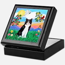 Bright Life / (B&W) Cat Keepsake Box
