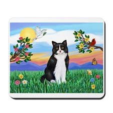 Bright Life / (B&W) Cat Mousepad
