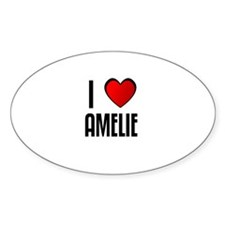 I LOVE AMELIE Oval Decal