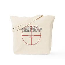 Life Through a Sniper Scope Tote Bag