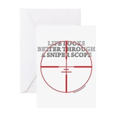 Life Through a Sniper Scope Greeting Card